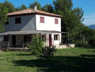 Nouveau : Maison calme et nature, mi distance de La Ciotat et Cassis