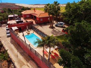 Una villa enorme, tranquila, a cuatro minutos de las playas de Maspalomas