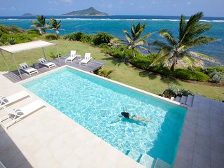 Luxury caribbean villa on the sea in unspoilt and friendly island.