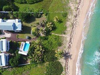 Beachcomber Villa on Bathway Beach. Beachfront, Pool, at Moonfish Villas