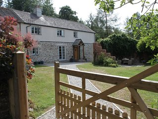 Luxury  Cottage in exceptional private grounds close to Exeter, beaches and Moor