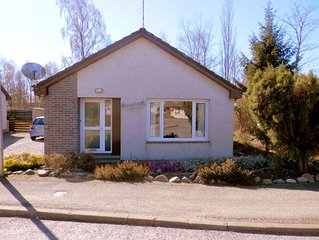 3 bedroom bungalow overlooking the woods and Cairngorm Mountains.