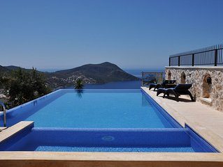 Luxury 5 Bedroom Villa with Heated (63 sq m) Private Infinity Pool and Jacuzzi