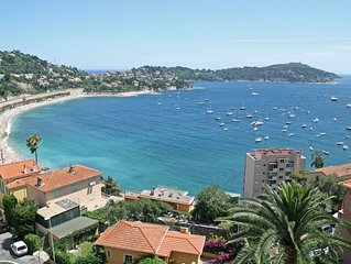 Outstanding panoramic sea views from the balcony and living room. 300 m to the v