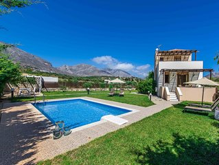 Villa Erato, with private swimming pool.