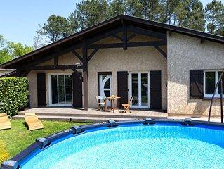 'l'oree de l'eau' 5/6 chambre pour 12 personnes avec piscine privee