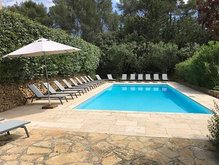FAMILY APARTMENT, 2-8 PEOPLE, IN PROVENCE MAS 16TH CENT., POOL, GARDEN, PARKING