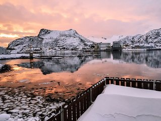 Apartment with panoramic views close to the best of Lofoten