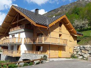Appartement neuf dans chalet a Vaujany - l' Alpe d'Huez