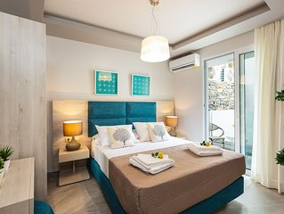 Junior Suite with Mountain View in Akrogiali Luxury Aparthotel