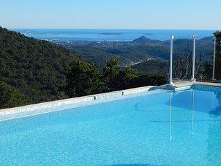 Domaine Prive, Vue sur la Baie de Cannes, Tennis Prive, Proche Plage, Air Cond
