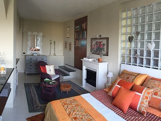 Studio apartment in an old historic farmhouse on the top of a hill
