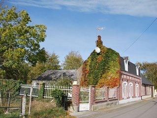 Baie de Somme. Maison Picarde 1900 rénovée comfort nature à 30 minutes de la mer