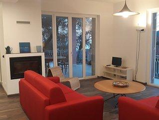 Appartamento in villa vista mare tra gli ulivi
