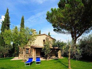 Villetta Cipresso e` parte di una Casa Colonica con piscina in comune, 2 camere