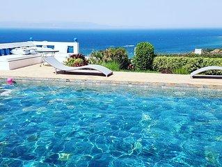 Villa sur les hauteurs de tanger avec piscine -sidi kankouch-
