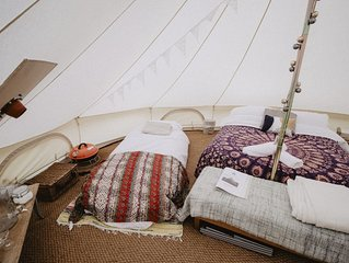 Boho Bell Tent - Electric Pitch. Incledon Farm, Georgeham, Croyde. SM.