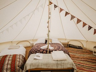 Boho Bell Tent - Electric Pitch. Incledon Farm, Georgeham, Croyde. SB.
