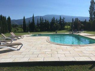 Villa met prachtig zicht op de Mont Ventoux op 2 km van het centrum van Bedoin.
