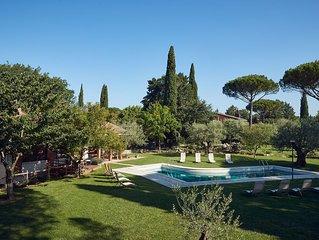 Oasi di pace alle porte di Perugia, apt. in villa con giardino privato e piscina