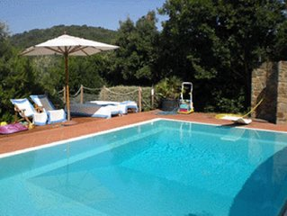 Villa with pool , garden and marvallous view