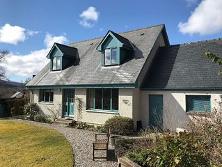 Spacious house with garden and outstanding views in the Scottish Highlands