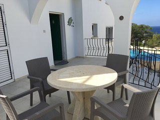 Villa with private pool, quiet village location, mountain and sea views