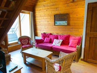 Charmant appartement duplex avec terrasse et une magifique vuesur la montagne et