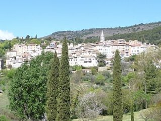 Large Provencal Village Home, Sleeps 8, South-Facing Terrace In Peaceful Village