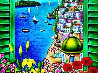 Casa Mami - Positano Center  (Mulini Square) terrace sea view - free WiFi -