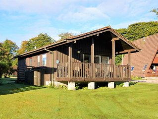 Fantasticprivate lodge in Hunters Quay Holiday Village, Dunoon, sleeping 4 perso