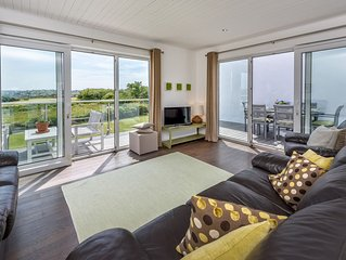 Enjoying far-reaching views towards the sea from the spectacular balcony, this a