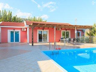 Villa Cherry: Large Private Pool, Walk to Beach, Sea Views, A/C, WiFi, Car Not R
