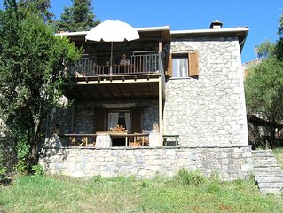 Stone house in the heart of Menalon mountain in Vytina