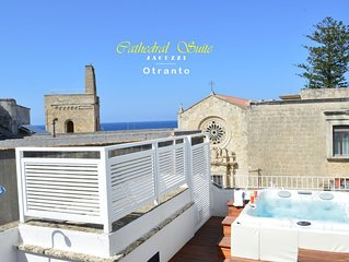 Cathedral Suite | Otranto with private rooftop JACUZZI  Luxury aparthotel