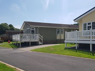 'Serenity' lodge in Heritage Park on the Pembrokeshire coast (dog friendly too!)