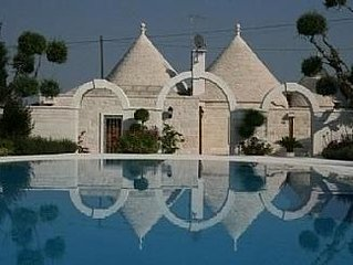 Trullo Villa With Large Private Pool, Beautiful Gardens, In A Charming Setting
