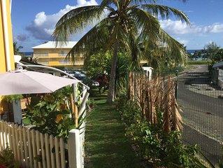 A 50m de la plage de l'Autre bord, bel appart 3* avec terrasse et jardin vue mer