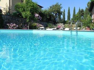 Locazione in villa storica del '600,piscina sulla collina di Montecarlo,Lucca