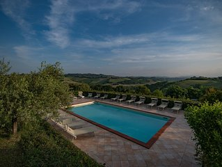 Exclusive large hilltop villa with private pool, family-friendly near beaches