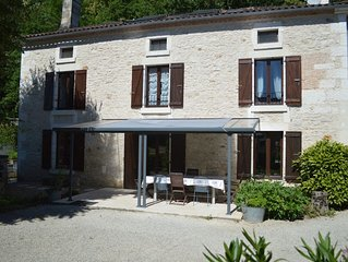 French farmhouse with heated swimming pool. Sleeps up to 10 people