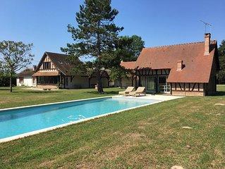 Sologne, belle propriété avec piscine proche Chambord, Cheverny, Zoo Beauval