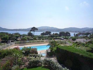 appartement dans résidence sécuriser avec piscine face à la mer