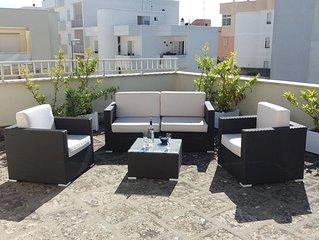 Appartamento in centro con grande terrazzo