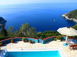 Villa Petritis  -  Superb Cliff Top Villa with Pool