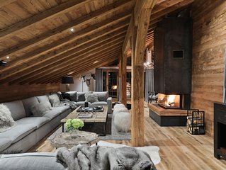 Very exclusive chalet with views of Mont Blanc, sauna, hot tub, games room