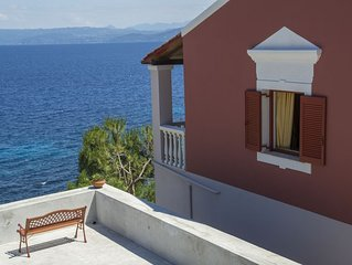 Villa  ,birds eye view, access to a small secluded beach