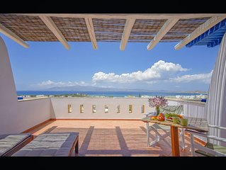 BEAUTIFUL NAXOS HOUSE WITH STUNNING VIEWS, 400M TO THE BLUE FLAG BEACH