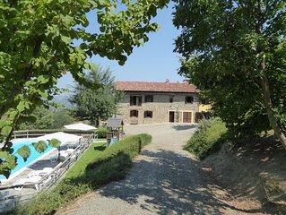 Luxus renoviertes alten Bauernhaus mit Panorama und privat Schwimmbad.