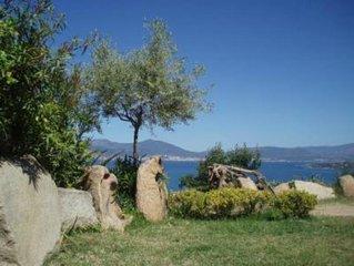 Porticcio: LOCATION DE  REZ-DE-VILLA AVEC VUE IMPRENABLE SUR LE GOLFE D'AJACCIO.